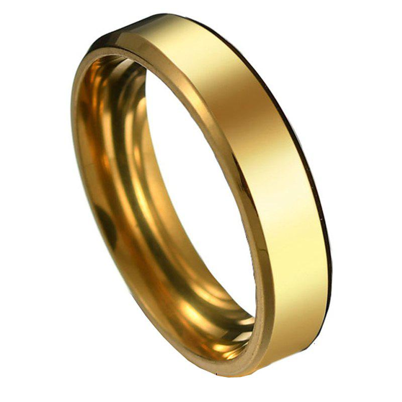 Stainless Steel Fashion Smooth Ring - GOLD 5