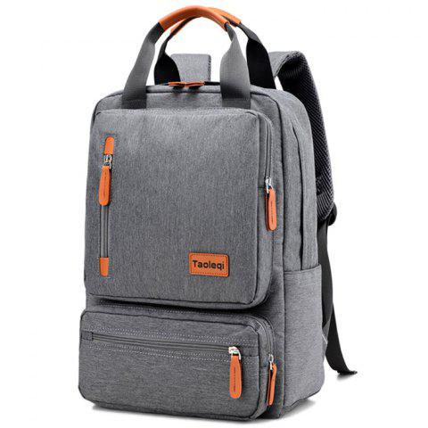 Fashion Canvas Student Backpack for Holding Stuff - LIGHT GRAY