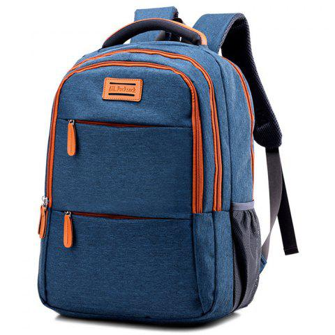 Sturdy Solid Color Student Backpack for Holding Stuff - BLUE JAY