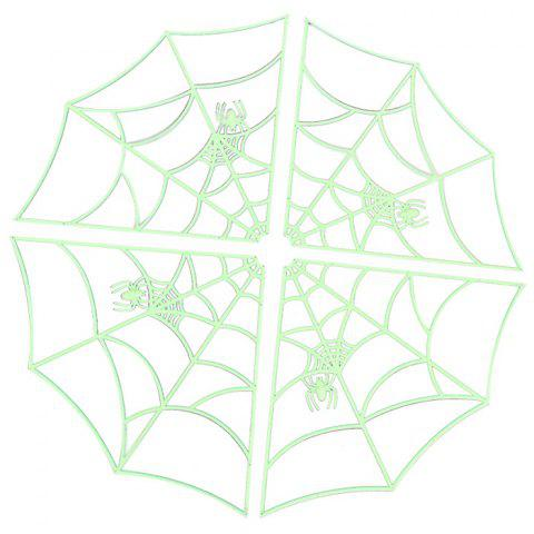 Luminous Spider Web Decoration for Halloween Party - FROG GREEN