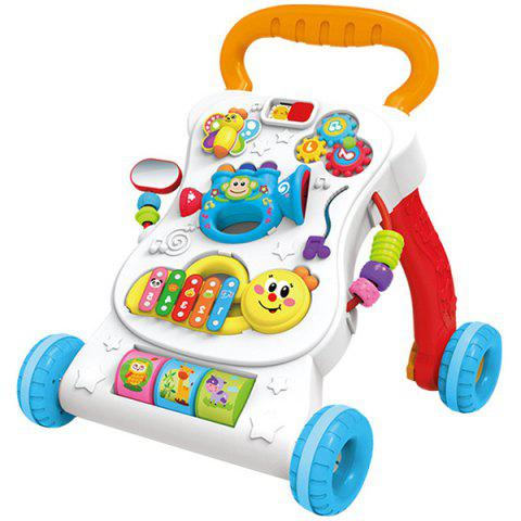 Multifunctional Creative Speed Control Music Baby Walker - BEER