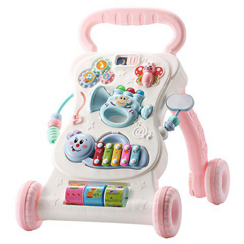 Multifunctional Creative Speed Control Music Baby Walker - PIG PINK