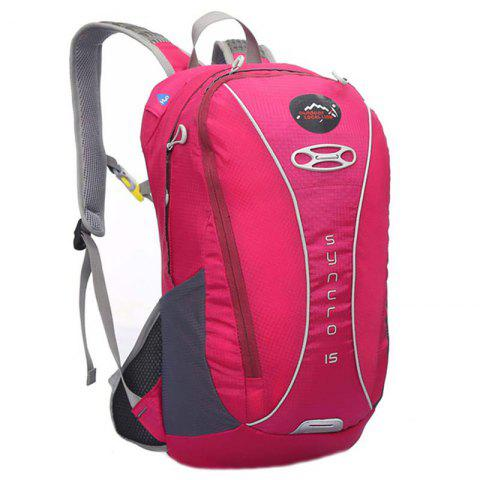 OutdoorLocallion Nylon Light Weight Backpack for Cycling Hiking - PINK LEMONADE