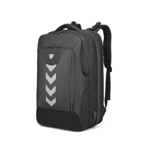 Ozuko Business Backpack with USB Port - BLACK
