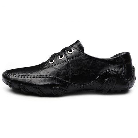 Octopus Tie Business Casual Shoes for Man - BLACK EU 48