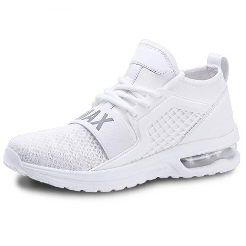 Air Cushion Casual Athletic Sports Shoes Sneakers for Men - WHITE EU 42