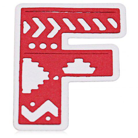 DIY Uppercase Letter F Pattern Carbon Steel Cutting Die - SILVER