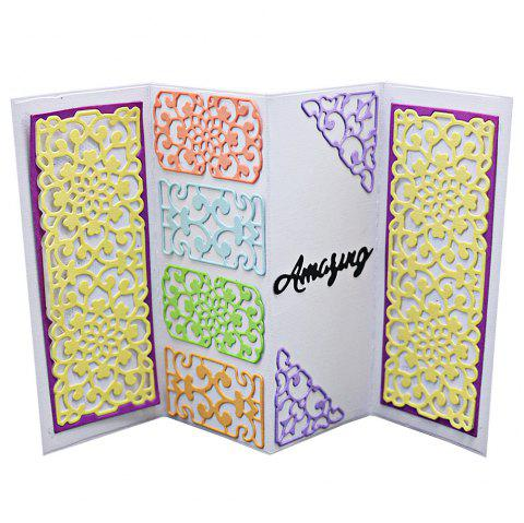 Lace Borders Template Embossing Stencil DIY Carbon Steel Cutting Die for Cards Scrapbooking 2pcs - SILVER