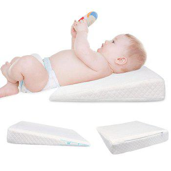 Anti Vomit Memory Cotton Ramp Baby Pillow - WHITE