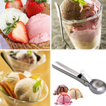 Stainless Steel Scoop Ice Cream Digger Scooper - SILVER