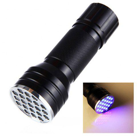 Brelong 21-LED Purple Light Flashlight for Dog and Cat Urine Stain Detection - BLACK