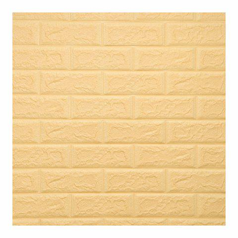 Environmental 3D Stereoscopic Brick Wall Paper Sticker - CORN YELLOW