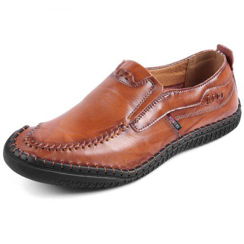 Stylish Genuine Leather Shoes for Men - RED DIRT 42