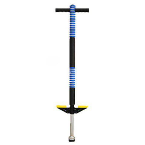 Single Pole Jumping Rod Flash Elastic Bar Outdoor Sports Toy for Children - DEEP SKY BLUE NOT GLOWING BLUE