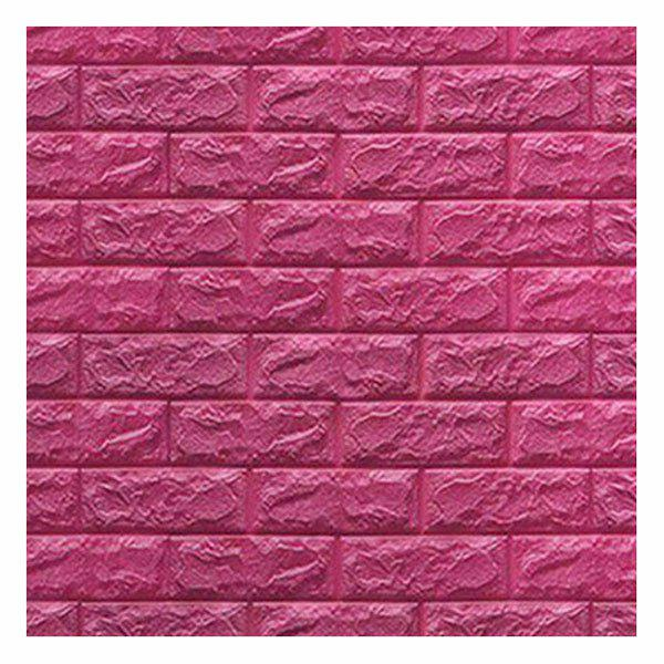 Environmental 3D Stereoscopic Brick Wall Paper Sticker - ROSE RED