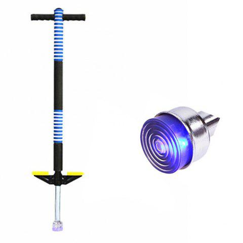 Single Pole Jumping Rod Flash Elastic Bar Outdoor Sports Toy for Children - DEEP SKY BLUE LUMINOUS BLUE