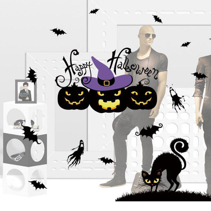 Wallpaper Wall Stickers Mural for Halloween Adornment - multicolor A 01