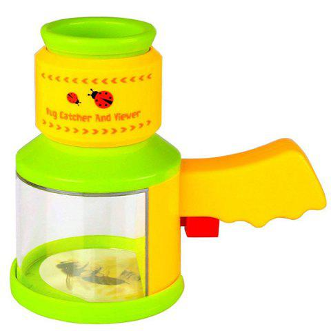Insect Viewer Bug Catcher Box Children Outdoor Science Toy - TEA GREEN