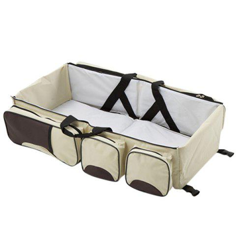 Outdoor Foldable Portable Handheld Baby Bed - BEIGE