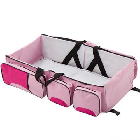 Outdoor Foldable Portable Handheld Baby Bed - LIGHT PINK