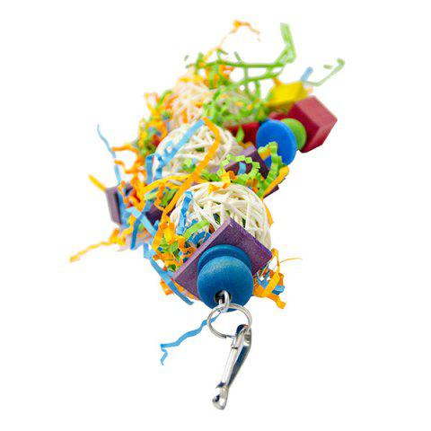 Creative Sepak Takraw Ball Toy for Parrot - multicolor