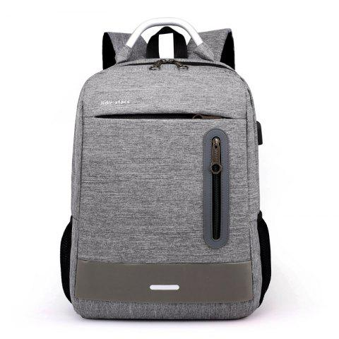 Trendy Waterproof Backpack with USB Port - GRAY