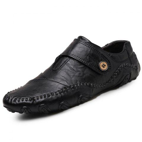Stylish Soft Handcrafted Driving Casual Shoes for Men - BLACK EU 44