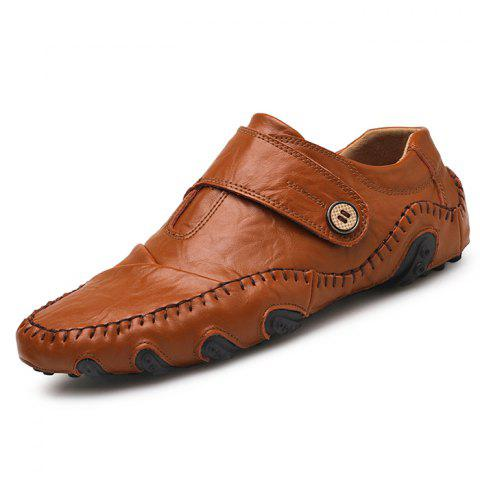 Stylish Soft Handcrafted Driving Casual Shoes for Men - BROWN EU 39