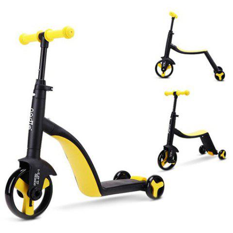3 in 1 Trendy Children Scooter Tricycle Balance Bike Riding Toy 1pc - YELLOW