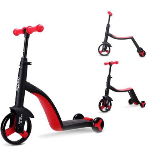 3 in 1 Trendy Children Scooter Tricycle Balance Bike Riding Toy 1pc - RED