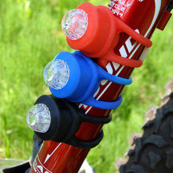 Silica Gel Safety Bicycle Night Tail Light 2pcs - RED