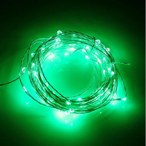 Utorch 5m 50-LED Decoration String Light with Battery Box for Festival - GREEN 5M