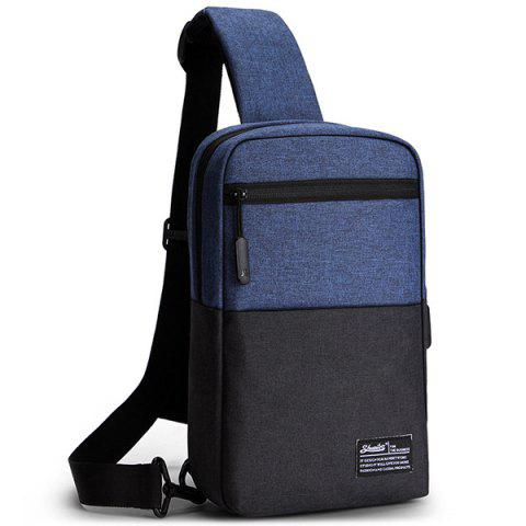 Shuaibo Outdoor Travel Oxford Fabric Chest Bag - NAVY BLUE