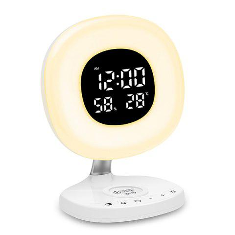 D7 Creative Wireless Charging Wake Up Light for Home Use - WHITE