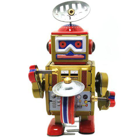 Retro Clockwork Robot with Key Toy Gift for Kids - GOLDEN BROWN