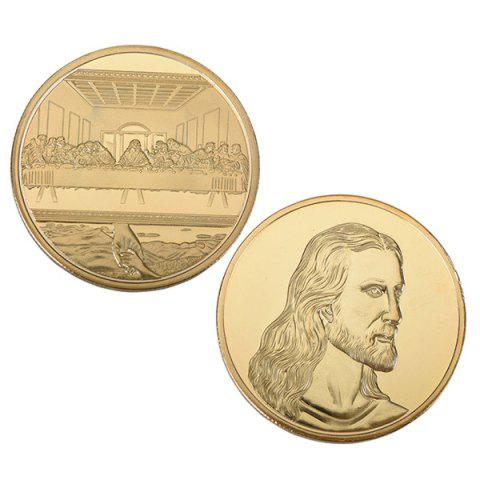 Jesus Last Supper Commemorative Coin Collectible Christmas Gift Toy - GOLD