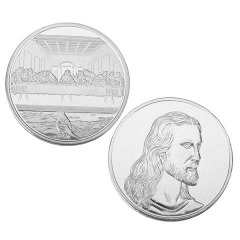 Jesus Last Supper Commemorative Coin Collectible Christmas Gift Toy - SILVER