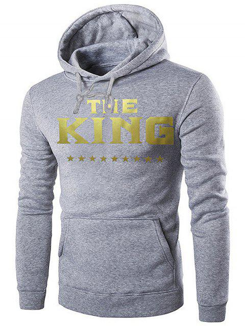 Stylish Comfortable Letter Print Classic Hooded Hoodie for Men - LIGHT GRAY XL