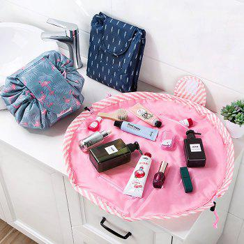 Large Storage Space Portable Cosmetic Bag for Traveling - multicolor A