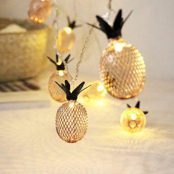 1.5m 10-LED Pineapple String Light for Birthday Party Wedding - WARM WHITE