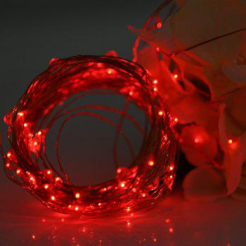 Utorch 5m 50-LED Decoration String Light with Battery Box for Festival - RED 5M