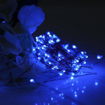 Utorch 5m 50-LED Decoration String Light with Battery Box for Festival - BLUE 5M