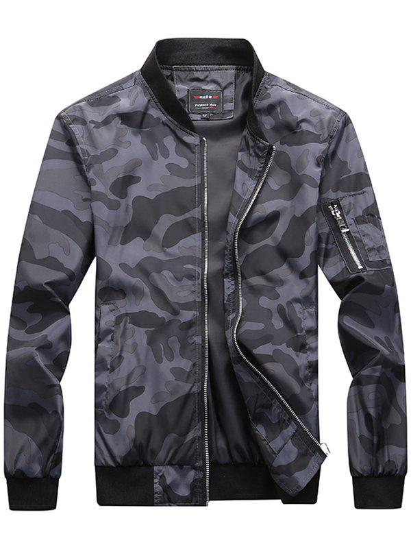 Trendy Camouflage Casual Jacket - GRAY CLOUD M