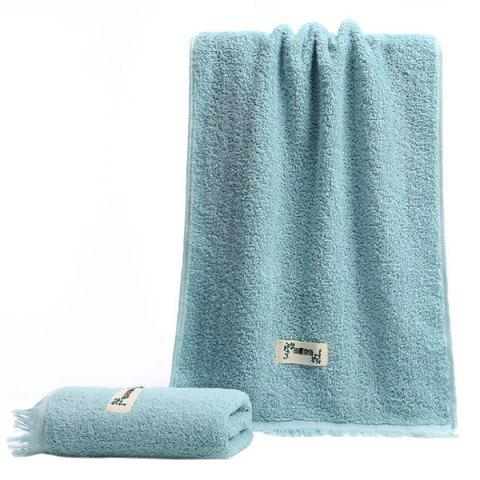 Facial Towel for Bathroom Dormitory Travel with Tassels 1pc - CORAL BLUE