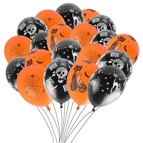 12 inch Thick Latex Balloons Halloween Decoration Prop 100pcs - multicolor