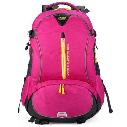 Shuaibo 9128 40L Large Capacity Travelling Backpack Climbing Bag for Men - ROSE RED
