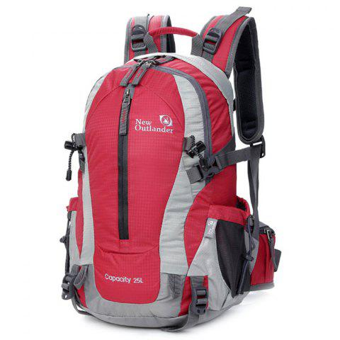 New Outlander 2083 Outdoor Nylon Waterproof Backpack - ROSE RED