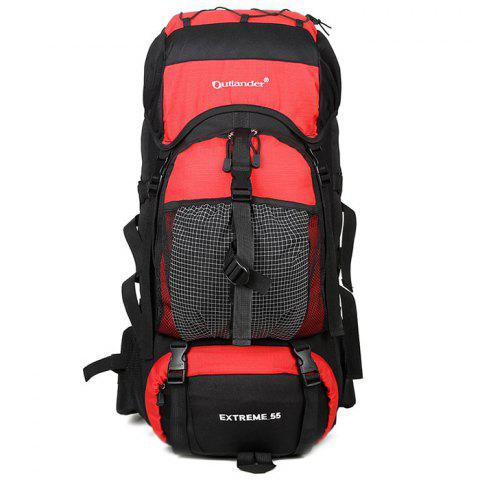 New Outlander 2450 Polyester Fabric Wear Resistance Backpack for Outdoor Tourism - LAVA RED
