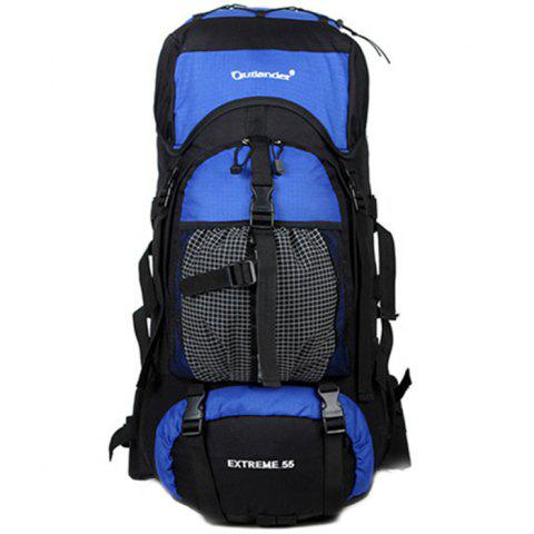 New Outlander 2450 Polyester Fabric Wear Resistance Backpack for Outdoor Tourism - BLUEBERRY BLUE