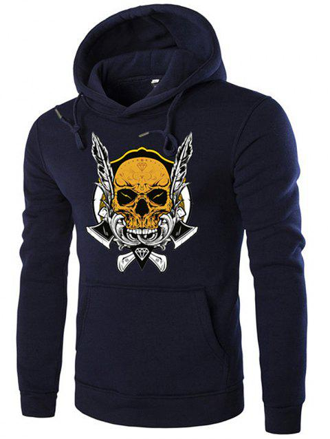 Autumn Winter Halloween Pullover Printed Hooded Hoodie - CADETBLUE 2XL